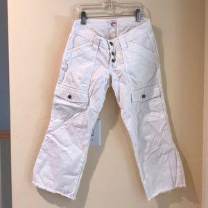 JOIE Cream Capri Cargo Pants
